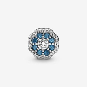 Pandora  Blue Sparkle Flower Charm